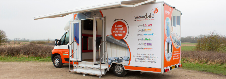 Step aboard the Yewdale show van