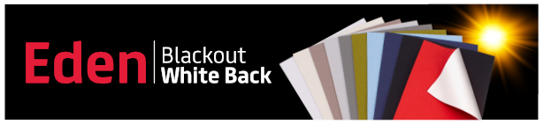New Eden Blackout White Back Fabric