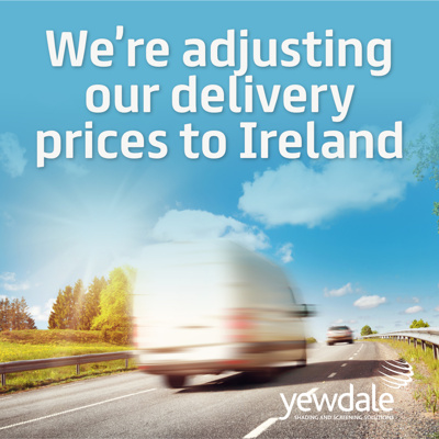 We're adjusting our delivery prices to Ireland and the Channel Islands