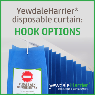 Yewdale Harrier® disposable curtain: hook options