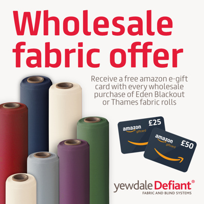 Wholesale fabric offer - receive a free e-gift card
