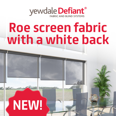 Introducing new white back screen fabric
