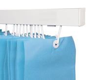 Disposable Curtains light blue
