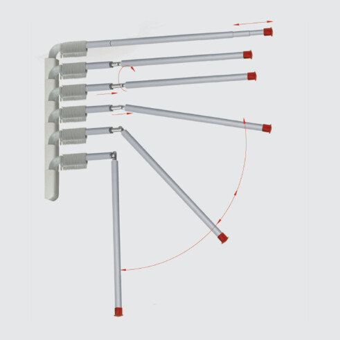 300 Telescopic Cubicle Rail