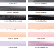 Fabric Product pagesVENETIANS4