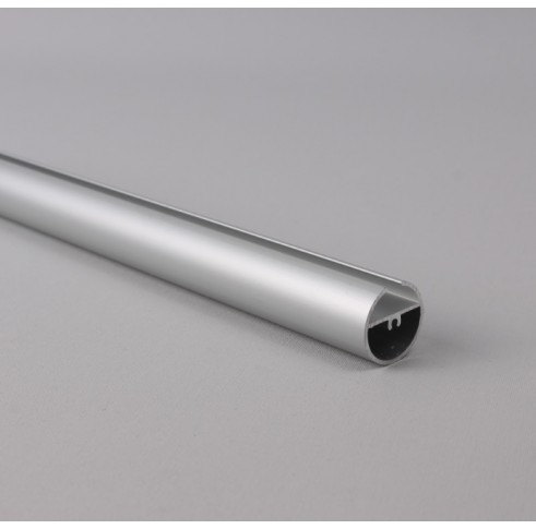 Silver Aluminium Round Bottom Bar