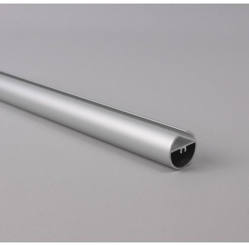 Silver Aluminium Round Bottom Bar