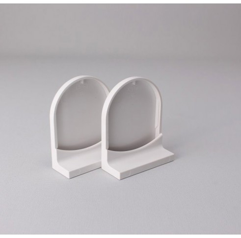 White 40mm Bracket Cover Set