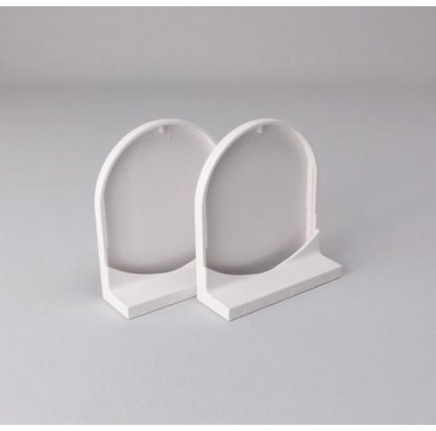 White 45mm Bracket Cover Set