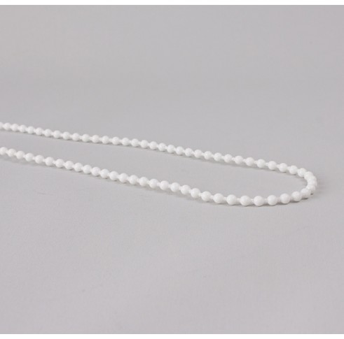 White Plastic Chain Loop Double Ball 750mm