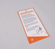 Safety Card - Drilled Hole Only