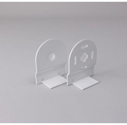 White Bracket 32mm Control Set For Back Bar