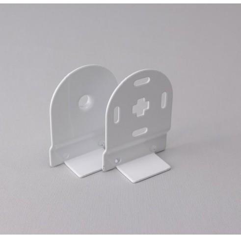 White Bracket 40mm Control Set For Back Bar