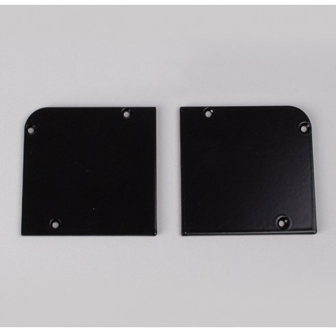 Black Fascia End Plates 60