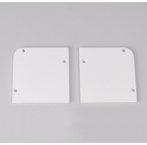 White Fascia End Plates 60