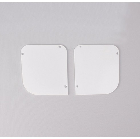 White End Plates 90