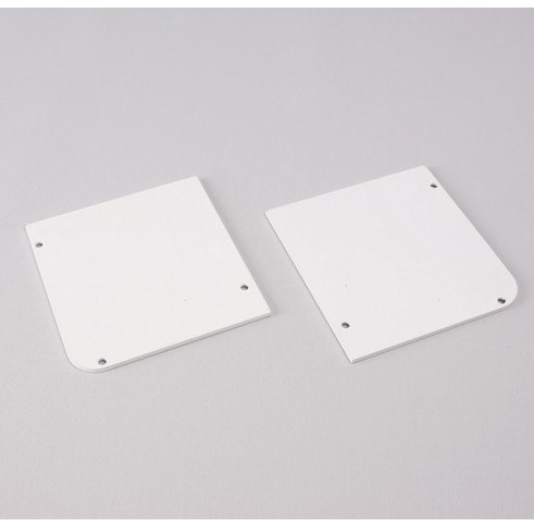 White Fascia End Plates 90