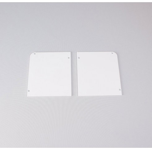 White Fascia End Plates 120