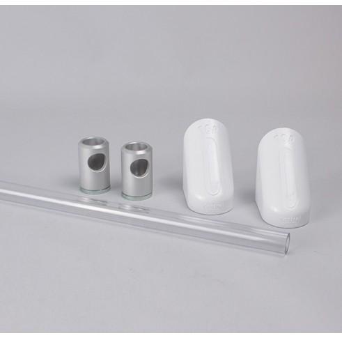 Polycarbonate Towel Rail Set 500mm Wide