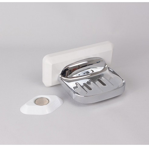 Soap Dish Polished Satin Steel