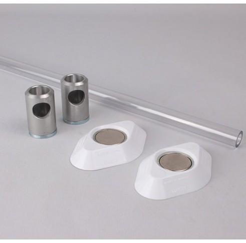 Polycarbonate Wardrobe Rail Set 500mm Wide