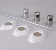 Polycarbonate Wardrobe Rail Set 1000mm Wide