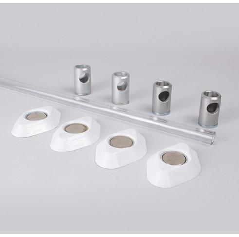 Polycarbonate Wardrobe Rail Set 1500mm Wide