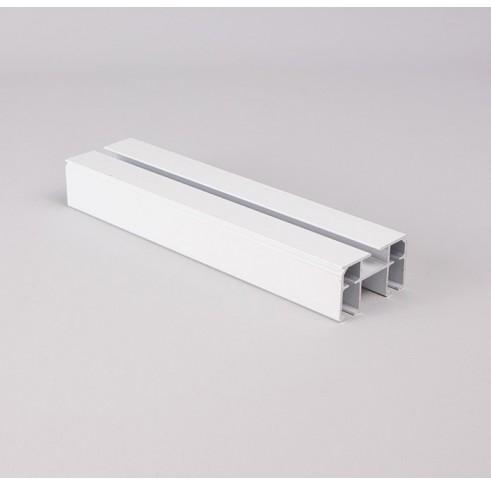 Aluminium Curtain Track 57 X 32.5mm White