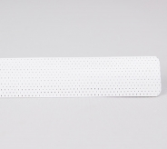 Bright White Perforated Slat