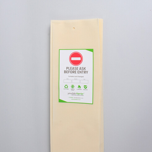 Disposable Cubicle Curtain with Hook Hollow Cream (DPL5)
