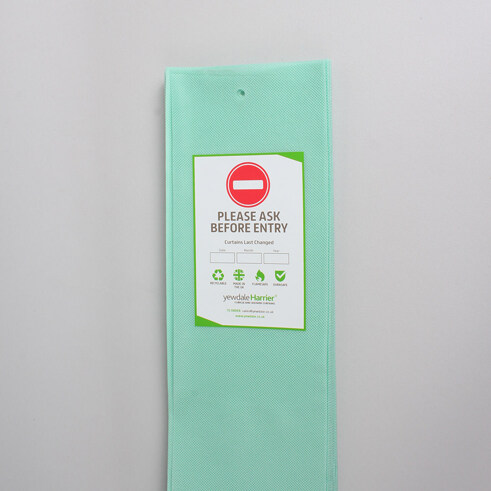 DPL5 - Disposable Cubicle Curtain with Hook Hollow Mint