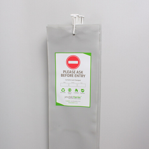 DPL6 - Disposable Cubicle Curtain with Universal Stalk Grey