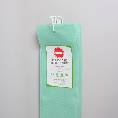 DPL6 - Disposable Cubicle Curtain with Universal Stalk Mint