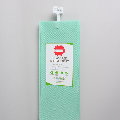 DPL7 - Disposable Cubicle Curtain with U-Shaped Hook Mint
